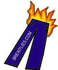 Brexit lies logo: a pair of trousers on fire